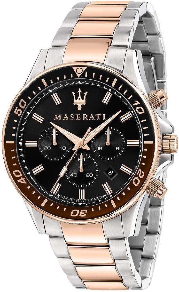 Maserati Reloj Hombre, Colección SFIDA, en Acero, PVD Oro Rosa - R8873640009