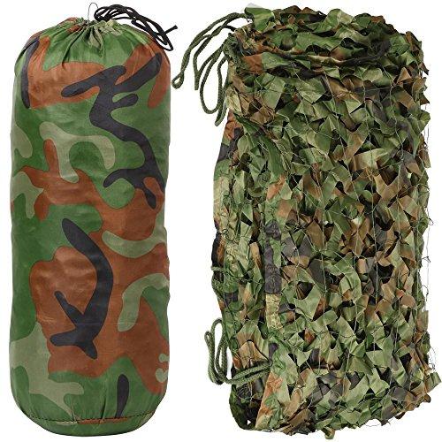 Yaheetech Woodland Camo Net Bundeswehr Armee Netz Tarnnetz für Jagd Camping in Größen S/M/L