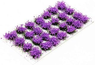 28 Pcs Purple Flower Cluster Flower Vegetation Groups Grass Tufts Static Scenery Model DIY Miniature for Train Landscape R...