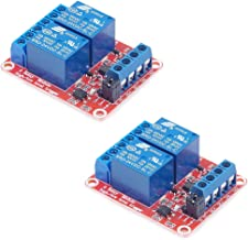 HiLetgo 2pcs DC 24V 2 Channel Relay Module with Isolated Optocoupler High and Low Level H/L Level Trigger Module Triggered by DC 24V