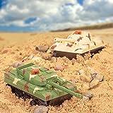 Juego de 2 Tanques de controlar a Distancia la Batalla RC con el Juego de Guerra Regalo Infrarrojos Torretas