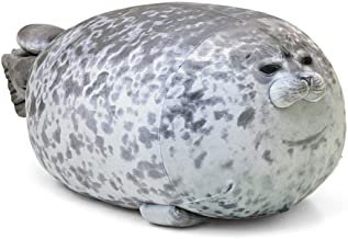 Womdee Chubby Blob Seal Pillow Stuffed Cotton Soft Plush Animal Toy Cute Ocean Pillow Pets, Cute Blob Seal Pillow Round Chubby Seal Pillow Soft Hug Plush Pillow for Kids