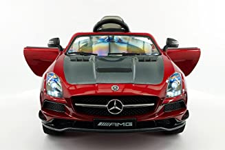 2019 Licensed Mercedes SLS AMG Limited Edition | Leather | LED Trim | Electric Kids Ride-ON CAR | MP3 + MP4 Color LCD Entertainment System | RC Remote Control +5 Point Safety (1 Year Warranty) | RED