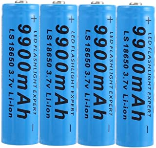 4Pcs Batterie Lithium-ion 18650 Batteries Rechargeables Piles Li-ION Batterie 9800mah 3.7v ICR Lithium Batteries Cellules Daccumulateur pour Torche Lampe de Poche