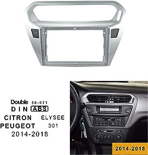 9 Inch Double DIN Car Stereo Installation Dash Kit for 2014-2018 Citron Elysee Peugeot 301 Install Mount kit Car Frame EZoneTronics