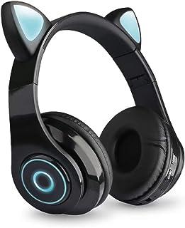 $26 » pedkit B39 Over Ear Music Headset Cat Ear Glowing Headphone Foldable Wireless BT5.0 Earphone Hands-Free with Mic AUX in TF...