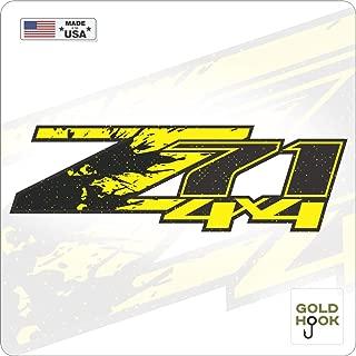 GOLD HOOK Z71 Logo Decals   Bedside Bed Panel   Chevy Silverado   GMC Sierra   Truck Sticker