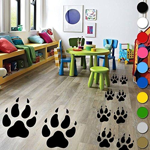 24?x Wolf Pfoten Spuren Wandtattoo Vinyl Kids Jungen M?dchen Schlafzimmer Boden Wand von inspiriert W?nde ?