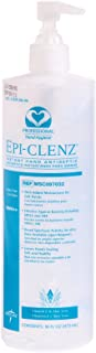 Epi-Clenz Clinical Hospital Grade Instant Hand Sanitizers, 16 oz pump, Clear, fresh scent with aloe vera and vitamin E, instant hand sanitizer, for cold and flu, with germ protection, and hand hygiene