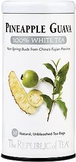 The Republic of Tea, Pineapple Guava White Tea, 50-Count