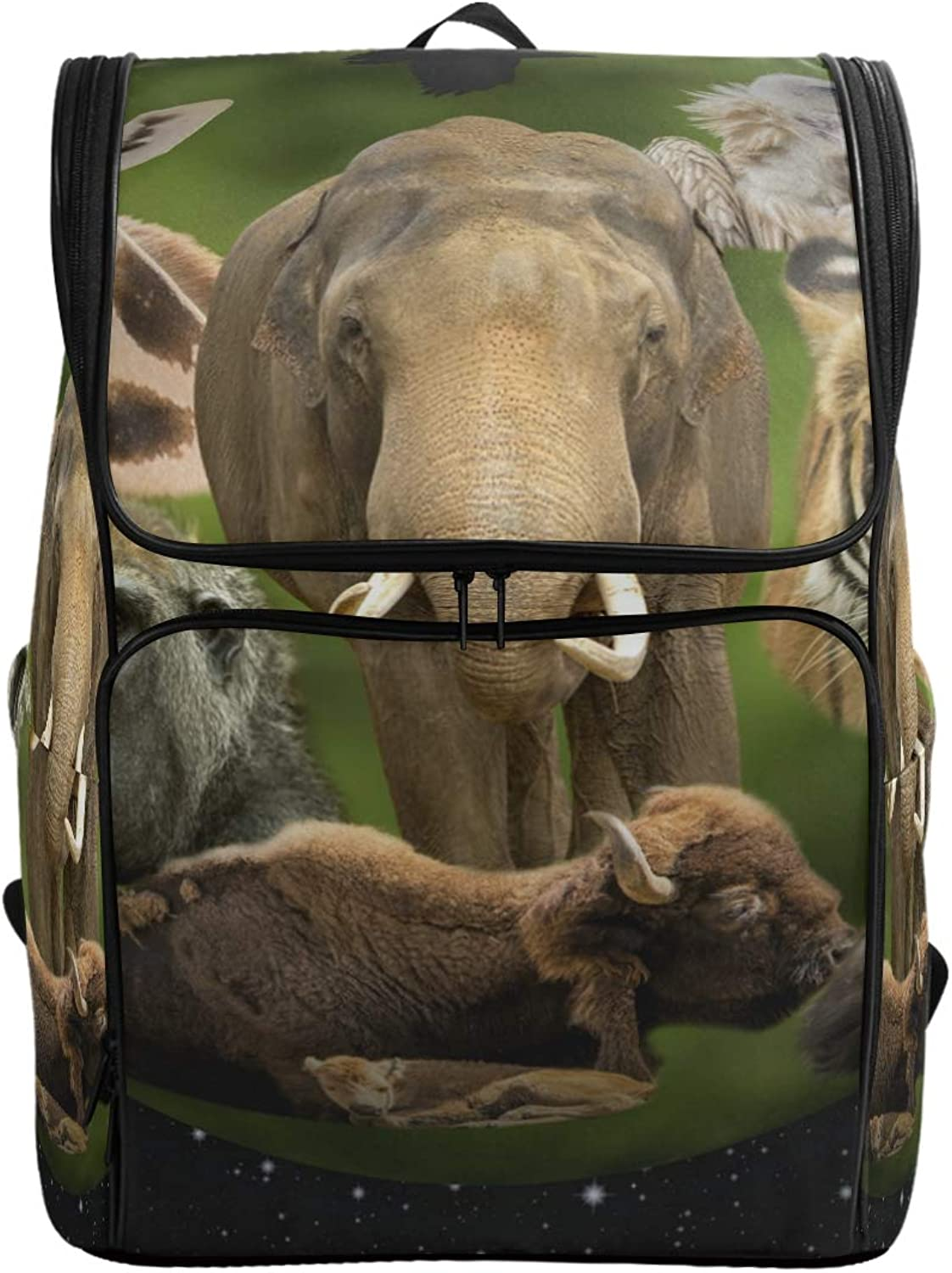 FANTAZIO Animal Planet Laptop Outdoor Backpack Travel Hiking Camping Rucksack Pack, Casual Large College School Daypack