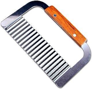 EQLEF® arrugarse cortador Adorne cortador ondulado Ripple Wave Cuchillo patatas fritas cuchillo Cortador de masa de patata Pastel de Herramientas