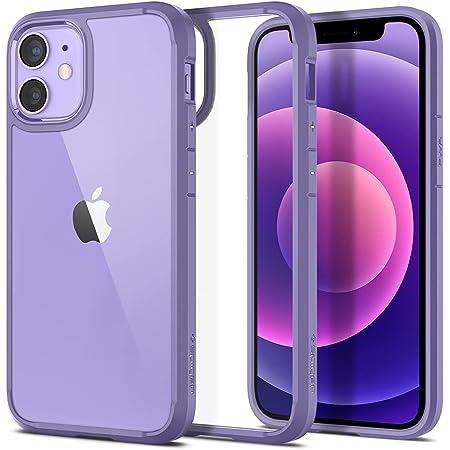 [ニューカラー] Spigen iPhone12 mini ケース TPU バンパーケース 5.4インチ MagSafe 対応 シンプル 背面クリア 米軍MIL規格取得 耐衝撃 すり傷防止 Qi充電対応 アイフォン12ミニケース ウルトラ・ハイブリッド ACS03110 (アイリス・パープル)