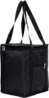 Heart Home Large Size Parachute Lunch Bag Suitable for 3 & 4 Compartment (Black) - (CTHH014447)