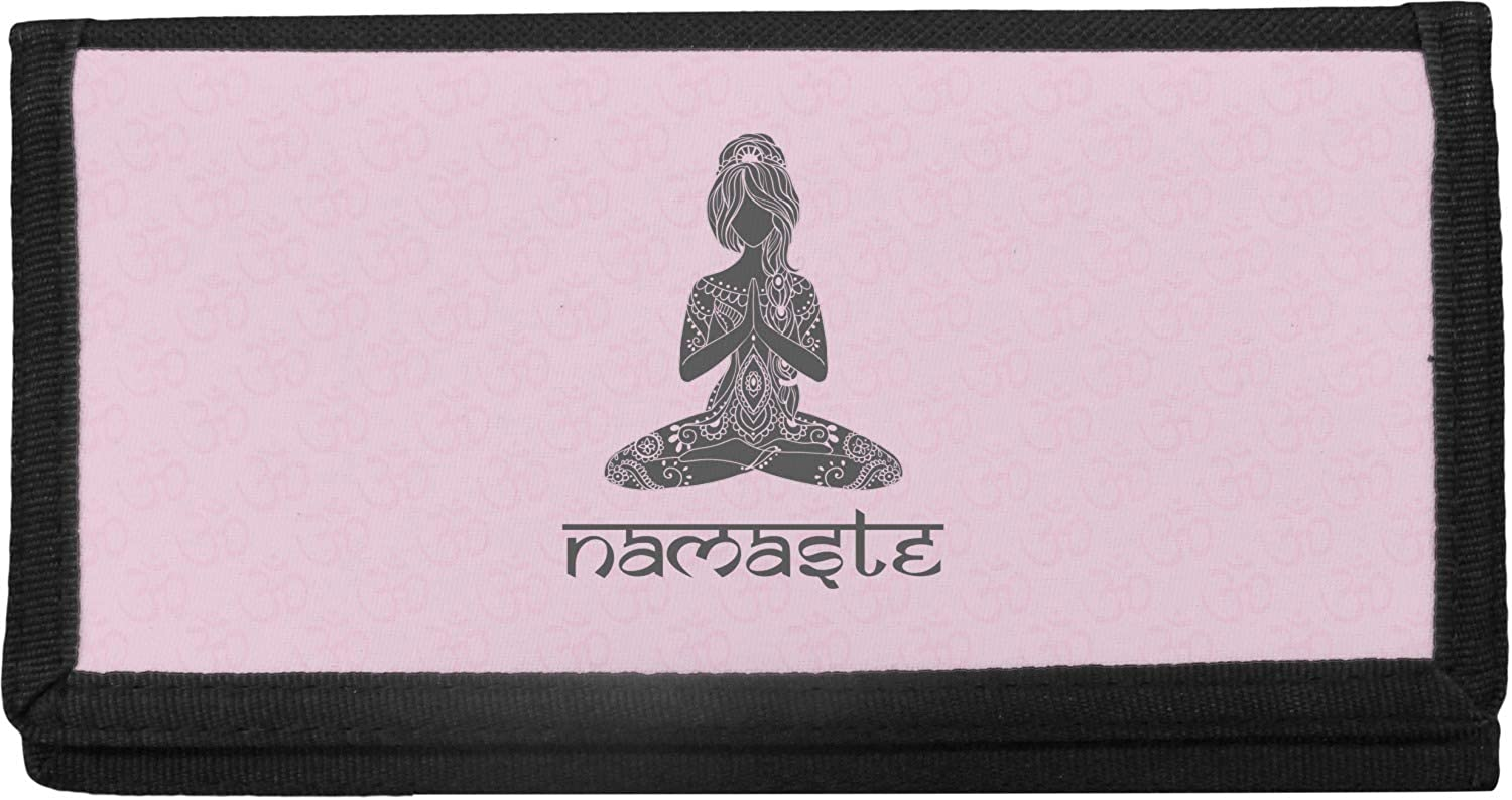 Lotus Special price for a limited time Pose Canvas Personalized lowest price Checkbook Cover