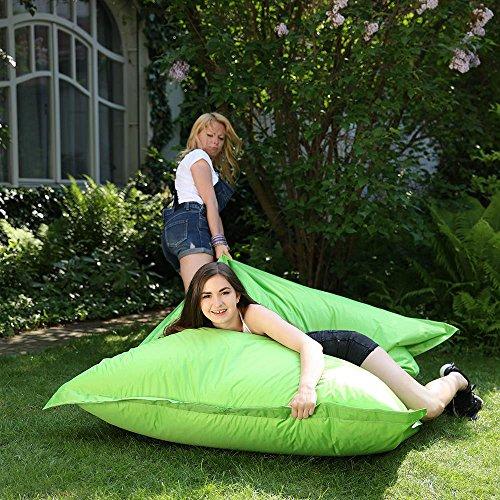Lazy Place XXL Sitzsack Outdoor und Indoor, abwaschbar, wasserfest, mit Innensack (apfelgrün)