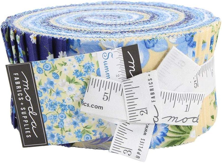 Summer Breeze VI Jelly Roll 40 2.5-inch Strips Moda Fabrics 33370JR, Assorted
