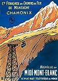 World of Art Vintage Travel Frankreich für Chamonix