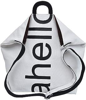 Wultia - Women Canvas Fresh Causal Fashion Letter Messenger Shoulder Bag Hand Travel Bag Bolsa Feminina Silver