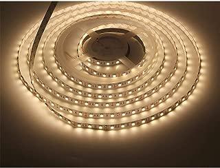 LEDMY Flexible Led Strip Lights DC12V 72W SMD5050 300LEDs Non Waterproof Led Indoor Lighting Warm White 3000K 5Meter/ 16.4Feet Using for Gardens, Homes, Kitchen, Car and Bar