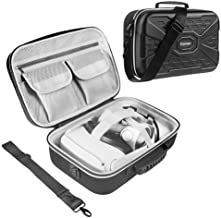 Esimen Hard Protective Travel Case for Oculus Quest 2 Carrying Case Controllers Accessories with Shoulder Strap, VR Glass ...