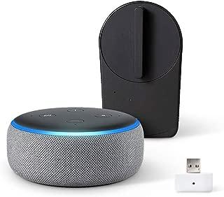 Echo Dot 第3世代 - スマートスピーカー with Alexa、ヘザーグレー + セサミ mini スマートロック本体 マットブラック + Wi-Fiアクセスポイント
