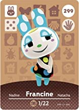 No.299 Francine Villager Cards Series 3 for ACNH New Horizon . Third Party NFC Card. Water Resistant