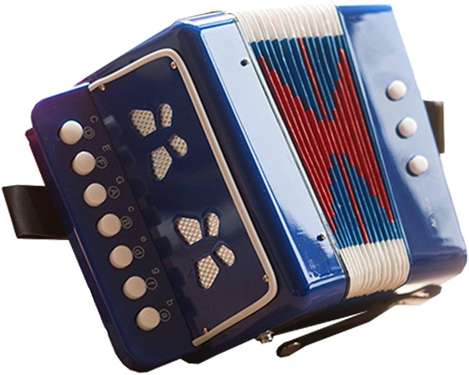 Kid's Toy Instrument Kid's Accordion For Both Boys and Girls,bluee