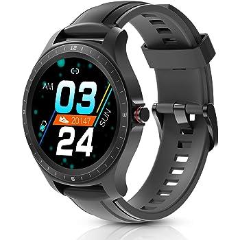 BlitzWolf Smartwatch, Reloj Inteligente IP67 Impermeable HD Pantalla Táctil Completa de 1.3 Pulgadas, Rastreador de Actividad, Pulsómetro, Podómetro, Monitor de Sueño, Reloj Deportivo Hombre Mujer: Amazon.es: Electrónica