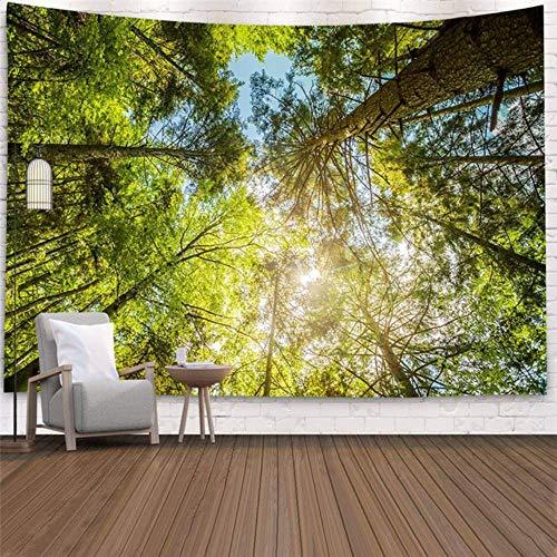 Planta de bosque paisaje tapiz paisaje natural colgante de pared impresión gran colgante de pared decoración de arte