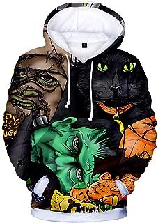 Unisex Pullover 3D Digital Print Halloween Lovers Hoodie Hooded Sweatshirt Tops Big Pockets