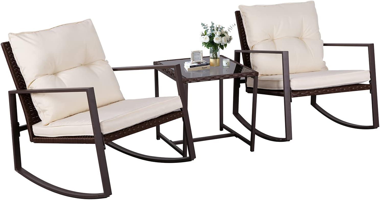 Rare Omelaza Outdoor Finally popular brand Patio Furniture Bistro All-Weather 3-Piece Set