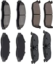 AUTOMUTO Front Rear Ceramic Brakes Pads Set fit for 1997 1998 1999 2000 2001 2002 2003 Ford F-150,2004 Ford F-150 Heritage,2002 Lincoln Blackwood