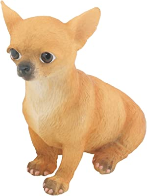 Chihuahua Puppy/Dog (Tan) - Collectible Figurine Statue Sculpture