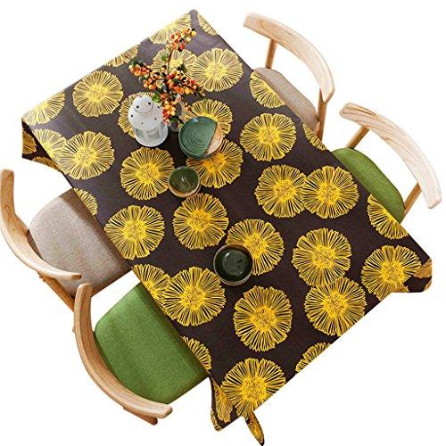 Nappe de table Nappe rectangulaire pastorale épaississement nappe en lin coton anti-rides haut de gamme (taille : 140 * 220cm)