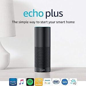 Echo Plus (1st Gen) – With built-in smart home hub, Black