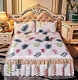 lxylllzs Cooling Topper Bed <span class='highlight'>Mattress</span> Rattan,Lace bed skirt ice silk mat three-piece folding mat-180 * 220_17,Summer Rattan Mat <span class='highlight'>Bamboo</span> <span class='highlight'>Mattress</span>