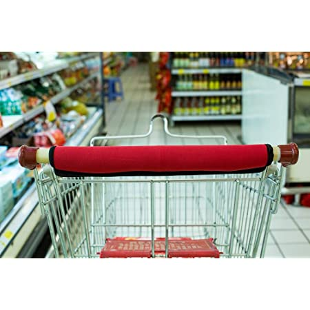 2 Pack Contactless Shopping Cart Handle Cover for Grocery Trolley Extra Padded Protection and Comfortable Touch