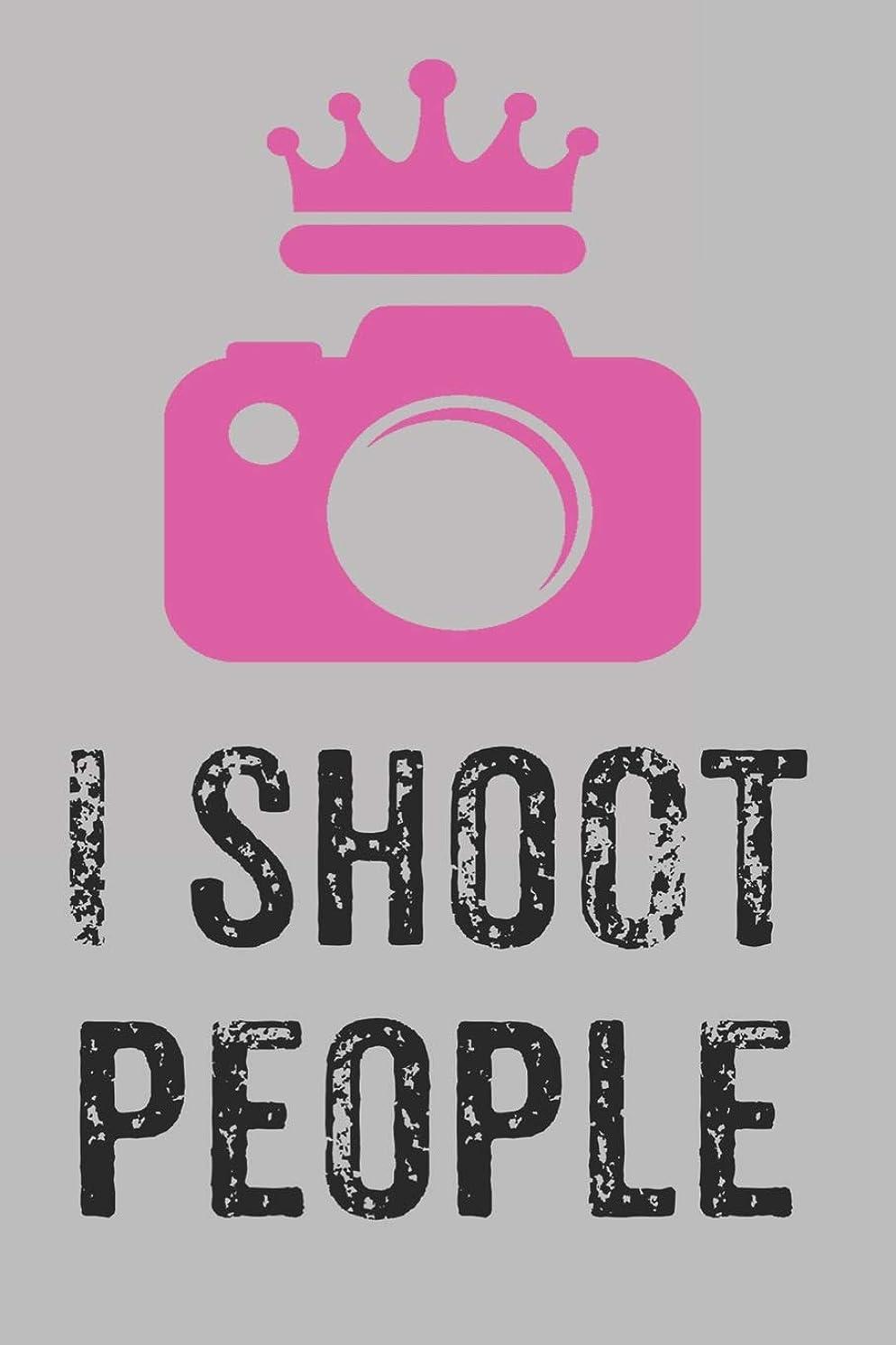 置き場動作慣習I Shoot People: 6x9 Wide Ruled 120 Sheets Journal