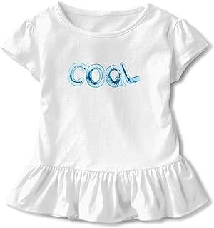 Children's Dresses Classic Ruffled Skirt for Toddler with Cool T Shirt Short Sleeve