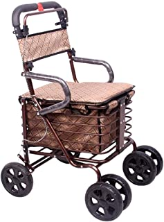 Mobility Aids & Supplies Walker Old Man Folding Shopping Cart Old Travel Special Trolley Four-legged Cane Wheelchair Light...