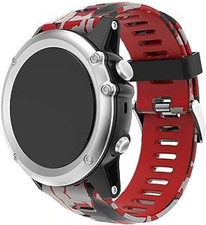 Bestow Garmin Fenix 3 Reloj GPS Silicagel Banda Suave Banda