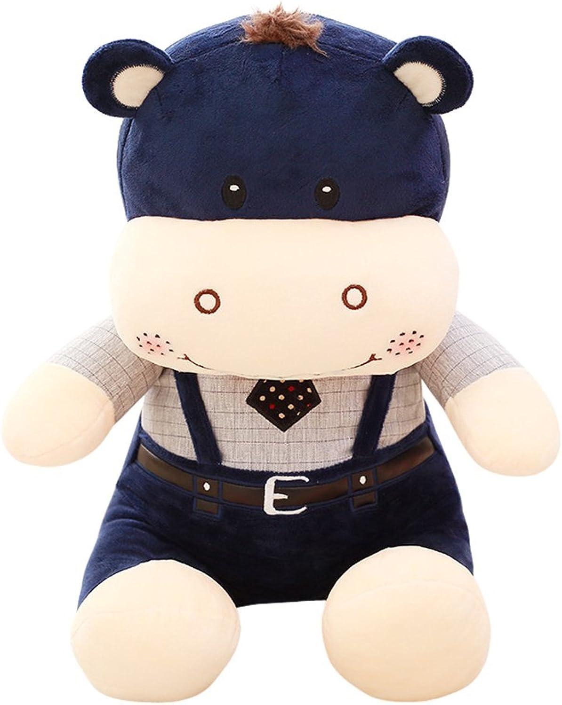 Remeehi Stuffed Animal Hippo Plush Gift Cute Hippo Toy (bluee 45cm 17.7 )