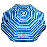 Tommy Bahama Sand Anchor 7 feet Beach Umbrella with Tilt and...