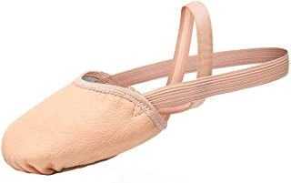 STELLE Leather Pirouette Dance Half Sole Shoes Turning Shoes for Ballet Jazz Girls/Women/Boy/Men/Adult