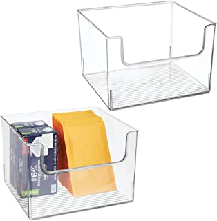 mDesign Plastic Open Front Home Office Storage Bin Container, Desk Organizer Tote - for Storing Gel Pens, Erasers, Tape, Pens, Pencils, Highlighters, Markers - 12