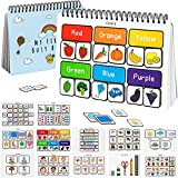 Tinkletots Montessori Toys Preschool Kids Activity Book Busy Board Busy Book for Early Learning and Montessori Sensory Educational Fun, 12 Activities with Letters Colors Shapes, Toddler Boys and Girls