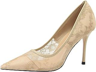 BalaMasa Womens APL11910 Mesh Stiletto Heels