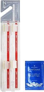 ソラデー 専用 スペアブラシ (4本入) コンパクト/先端ポイント毛/ふつう RC歯磨きジェル(1g)付 替えブラシ (シケン)