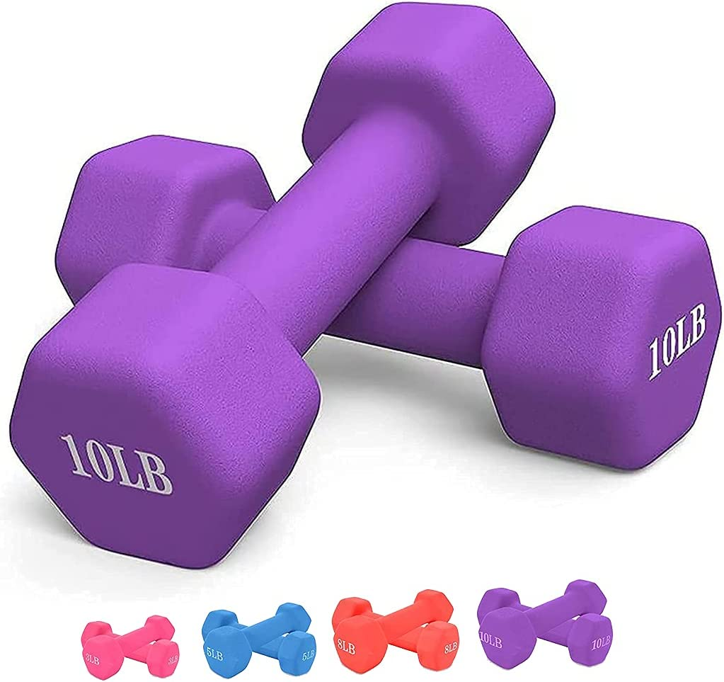 Printasaurus NEW before selling Neoprene Dumbbell Barbell Hand Weights Pou Fashion 5 3 10 8